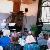 The 15h of May 2010 Eddy van der Maarel presented our CD during a concert in the pretty church at Wilhelminaoord.